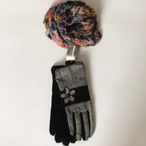 Leather/Fabric Gloves